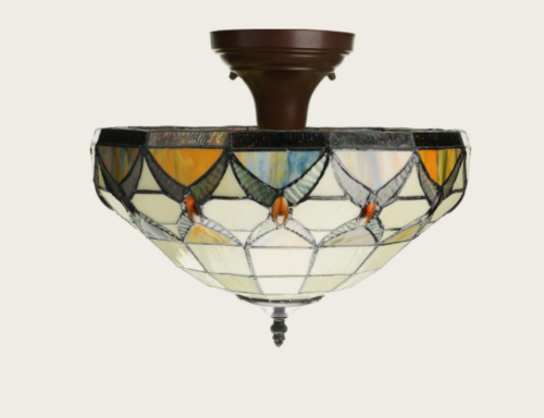 Rustic Stained Glass Tiffany Ceiling Lamp For Dining Room Indoor Fair Stained Glass Light Fixtures Dining Room 2018