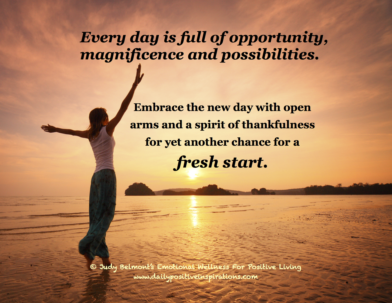 Every day is a fresh start! For more Daily Positive ...