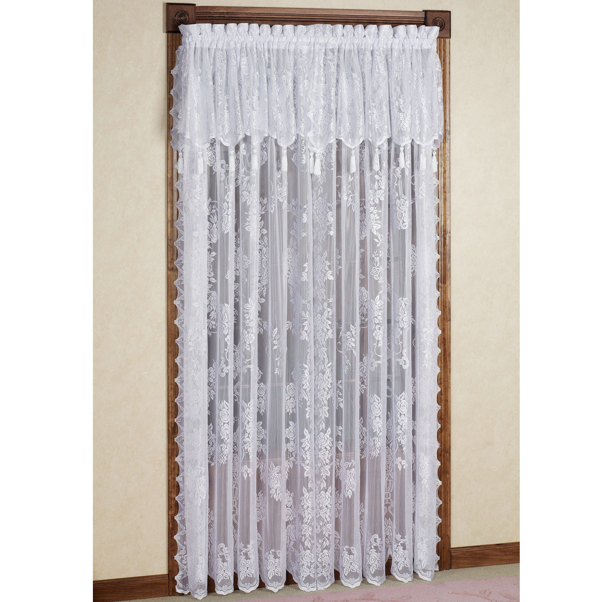 Carly Lace Curtain Panel With Valance