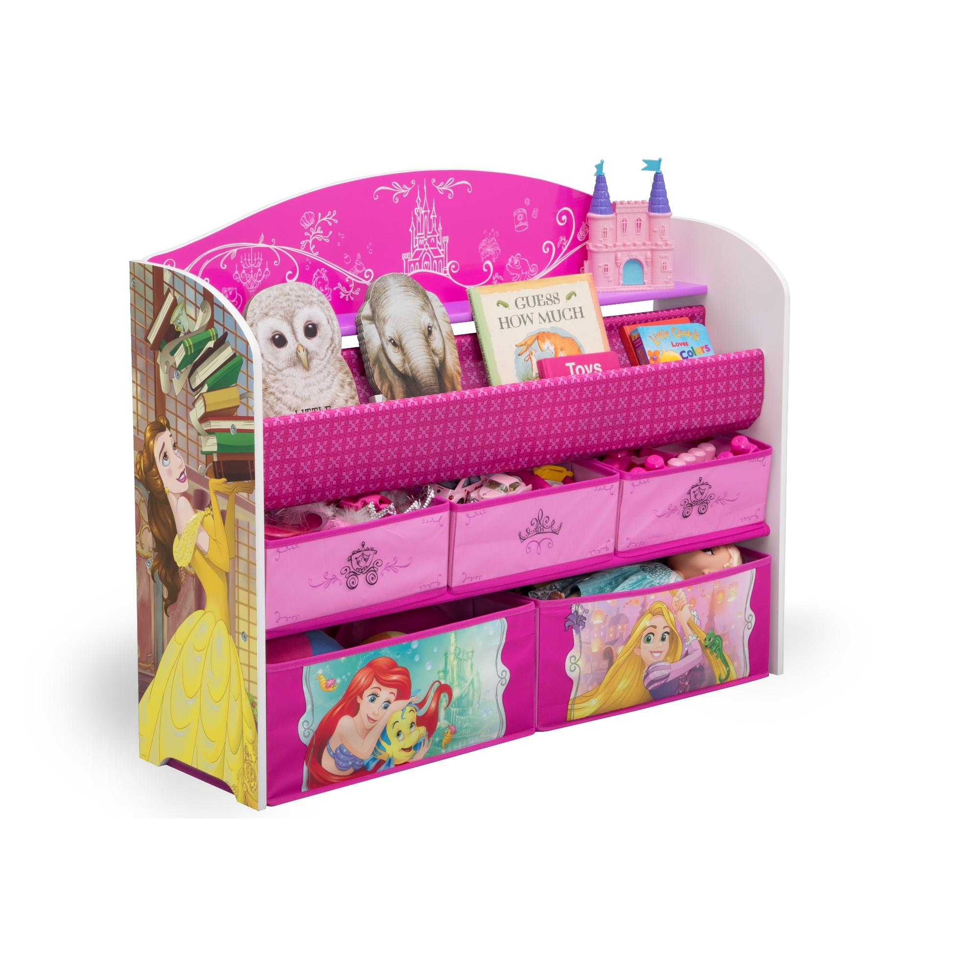 Delta Children Disney Princess Deluxe Book Toy Organizer Pink