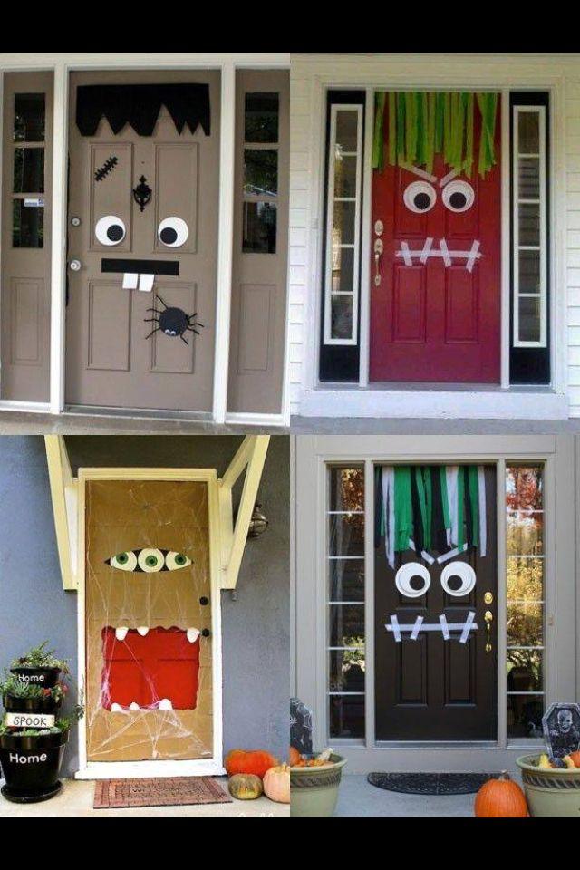 Original decoración de hallowen para las puertas de las casas, que - scary door decorations for halloween