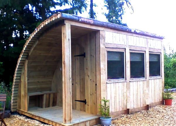 garden room office or glamping pod for camping at Home concept