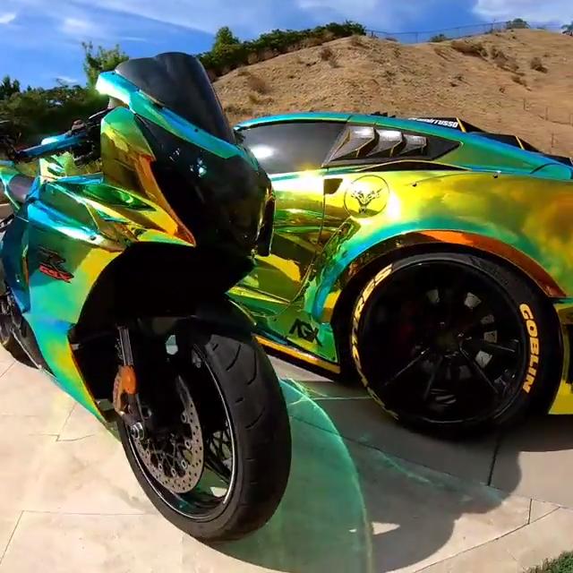 Bike vs. Vette   - SupercarsBuzz - Supercars & Hypercars -