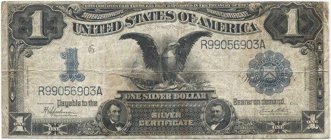 1 Dollar 1899 (Adler mit Flagge) Silver Certificate | Banknoten ...