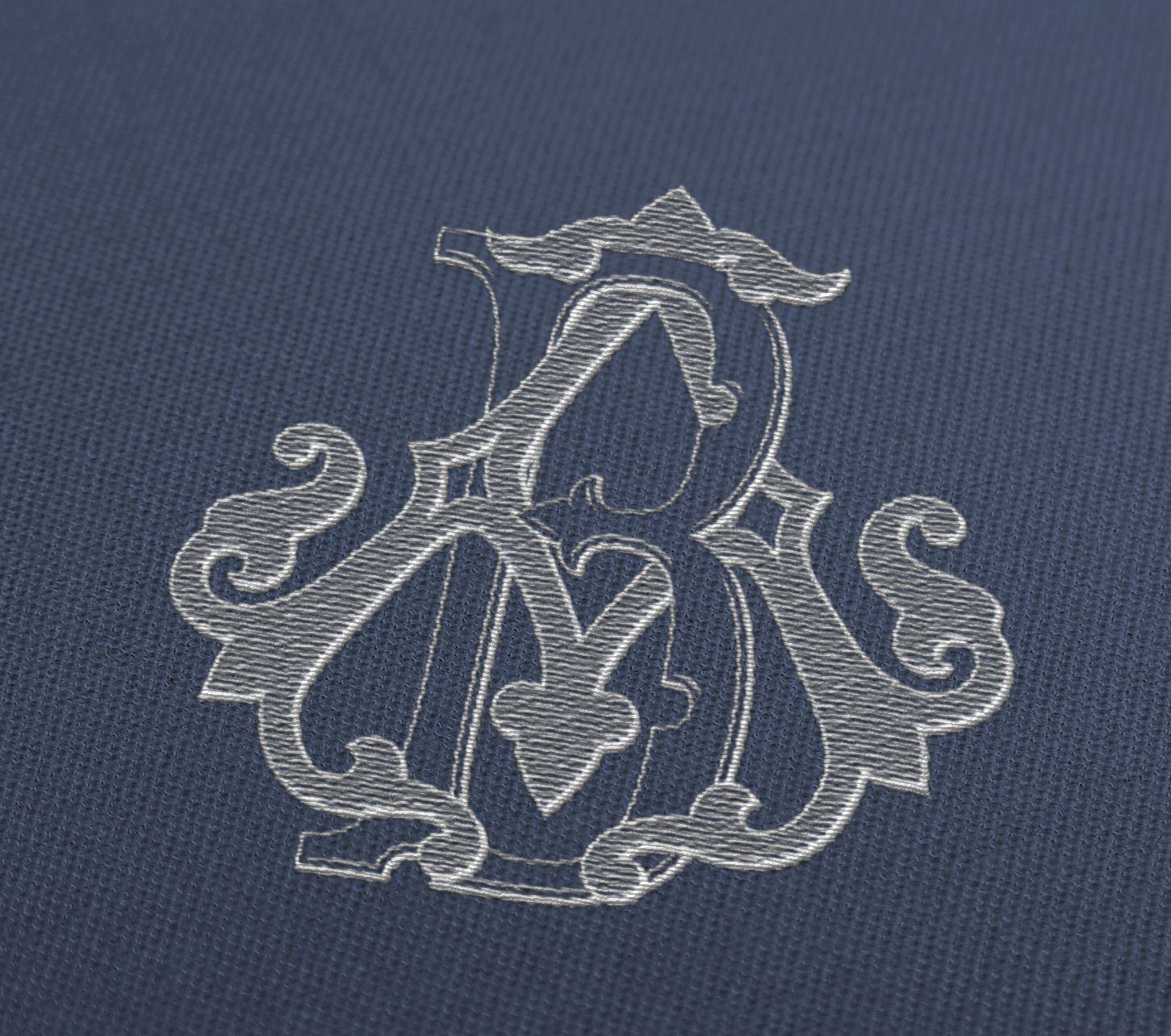 embroidered logo mockup jpg monograms pinterest monograms