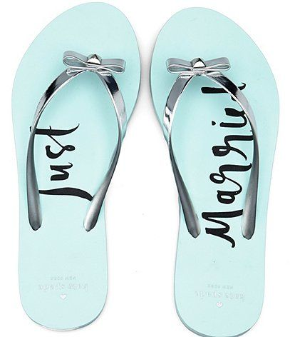 kate spade new york Nadine Metallic Flip-Flop Sandals wrtle