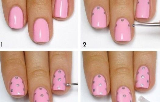 Easy, Quick Polka-Dot Manicure