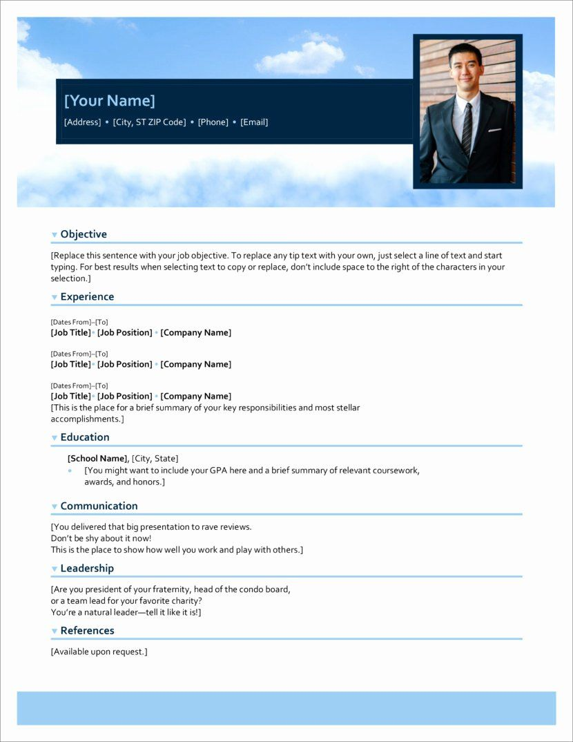 25 Free Resume Templates Microsoft Office in 2020
