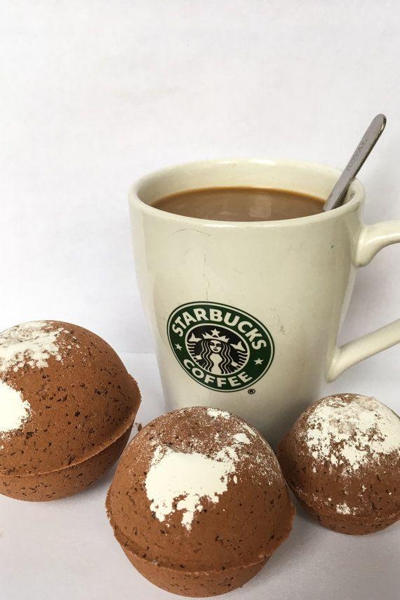 Bombs ~ Natural Bath Bomb ~ Organic Bath Bombs ~ Handmade Bath Bomb ~ Coffee Bath Bomb ~ Latte Bath Bomb ~ Cafe au Lait Bath Fizzy