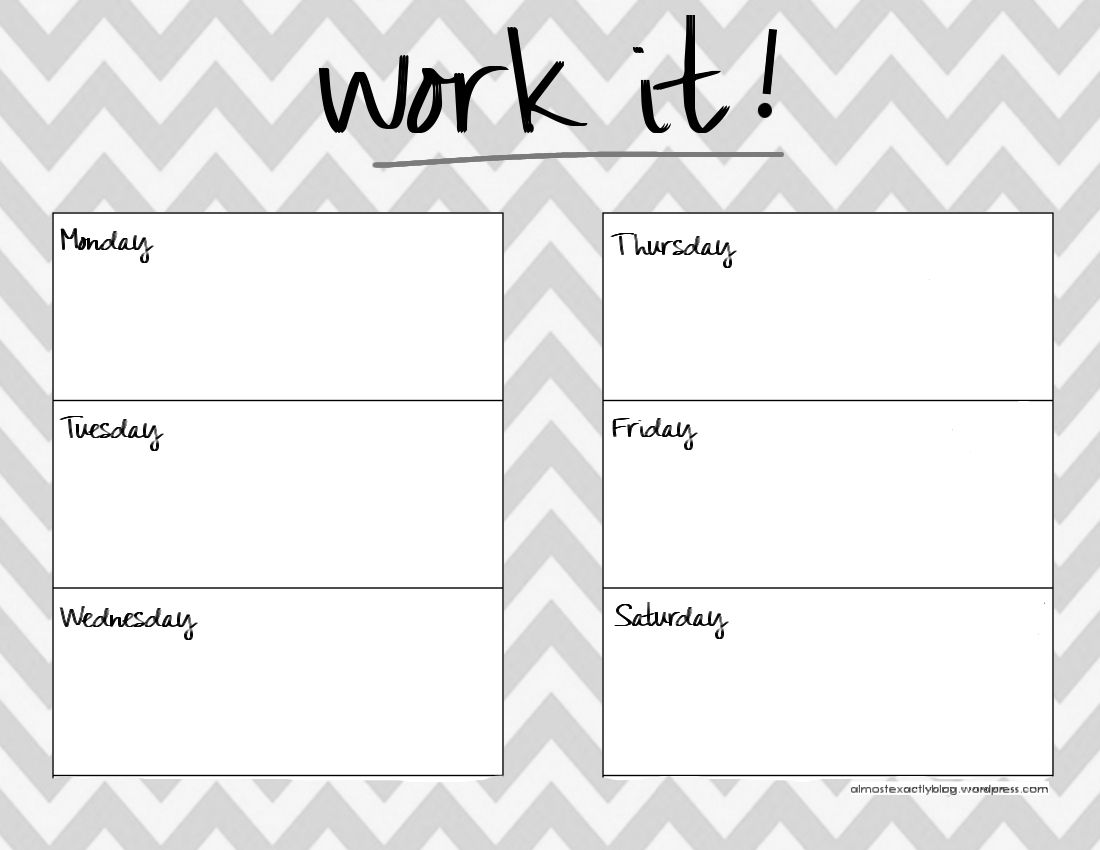 Reusable Workout Planner Burnlivechallengeworkout Plan  Home