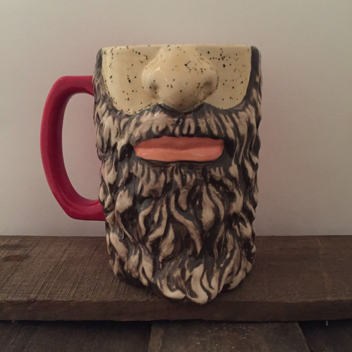 New item in the shop!! Large Mug Beard Face Beer Stein
