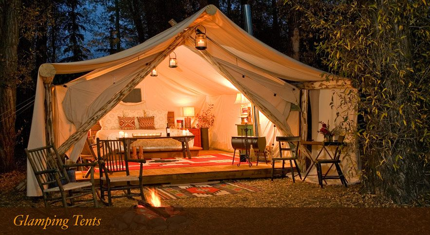 Jackson Hole Glamour Camping | Fireside Resort - Wyoming - now that's what I call camping!