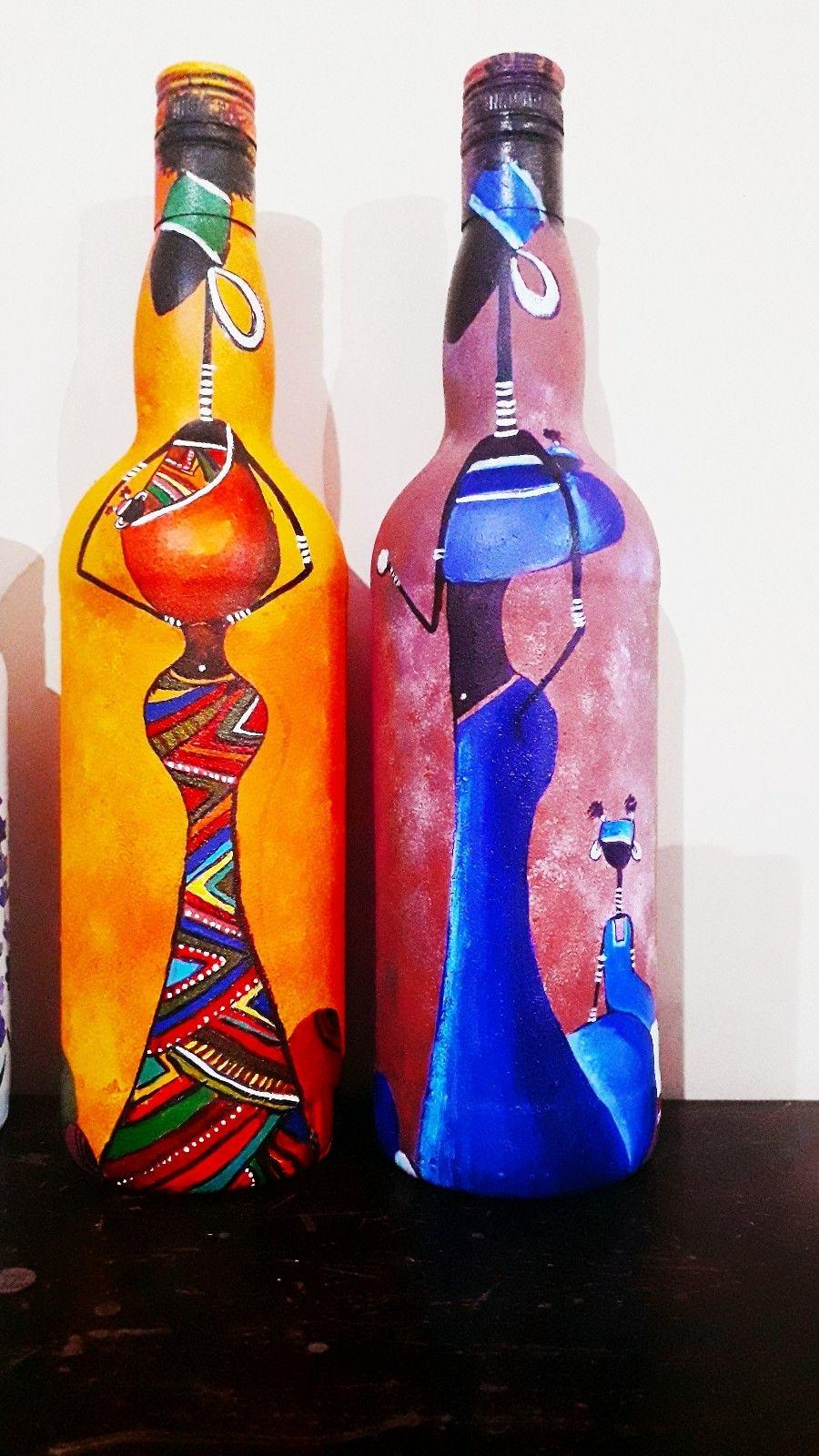 African Art In Bottile In 2020 Glass Bottles Art Bottle Art Bottles Decoration