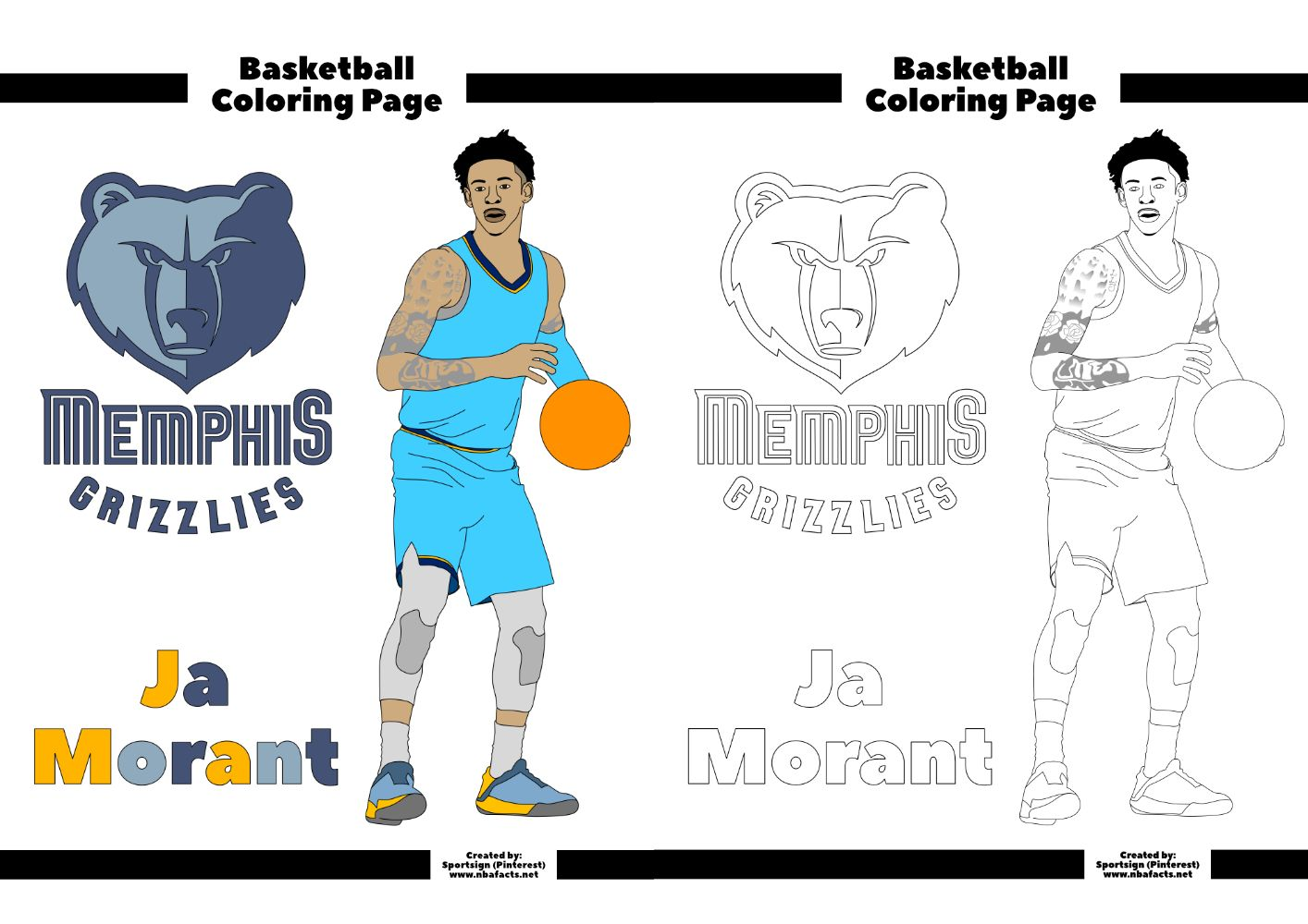 - Free NBA Coloring Sheets In 2020 (With Images) Coloring Sheets