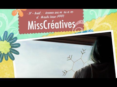 DIY - Noël : Décorer ses murs avec du WashiTape (PPP) - YouTube - misscréatives
