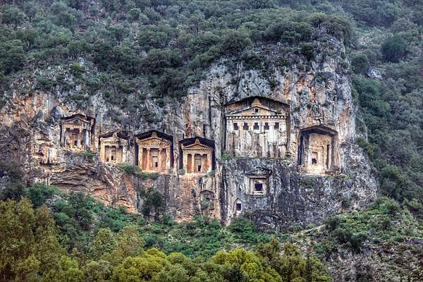 Lycian Rock Tombs Of Dalyan, Turkey. -by ©auntieblues 2004 - 2014 - featured on Fine Art America