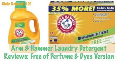 Arm And Hammer Perfume And Dye Free Detergent Reviews And