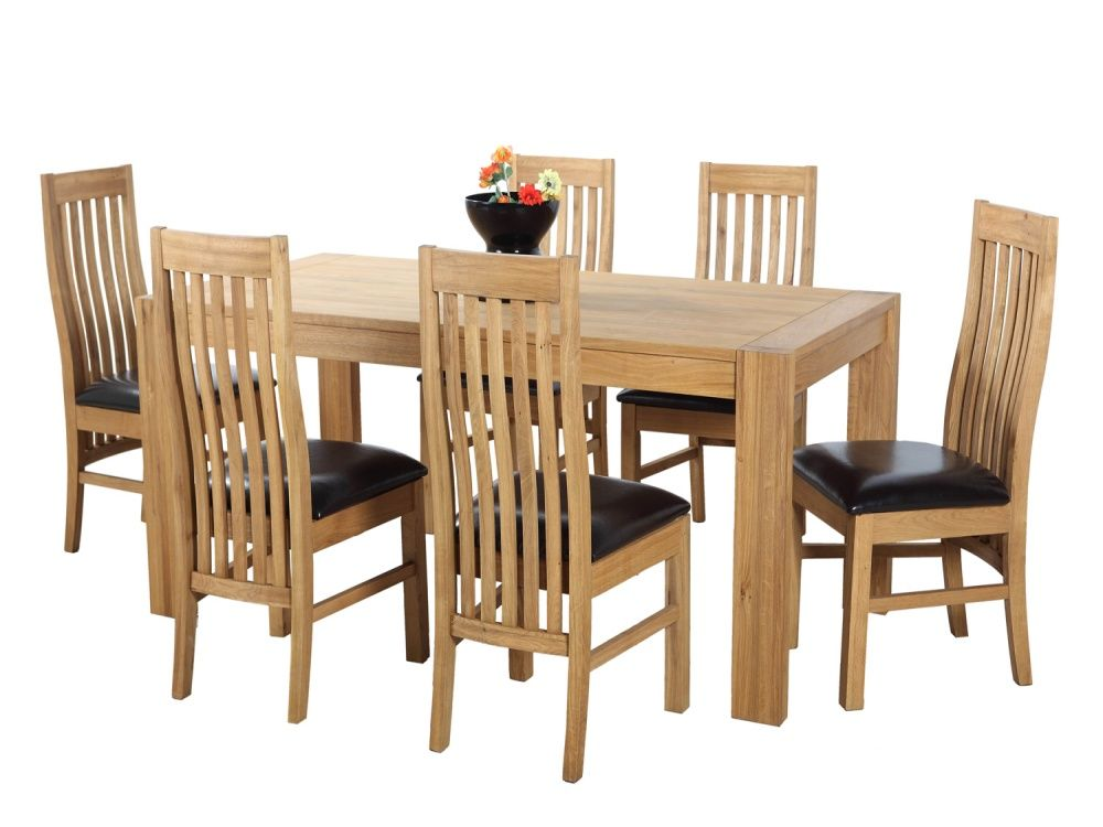 Solid Oak Dining Room Sets  Solid Wood Dining Room Furniture Sets Best Oak Dining Room Table And 6 Chairs Review