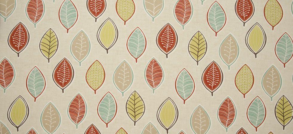 In Two Colours Coco Clarke and Clarke Studio G Pretty leaf Print Fabric