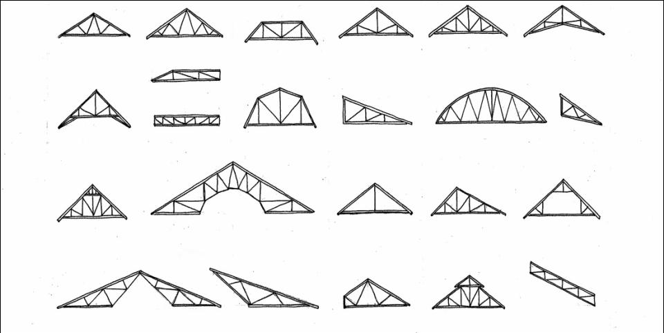 Truss Types Re Construction Manual In 2020 Attic Truss Gable Roof Scissor Truss