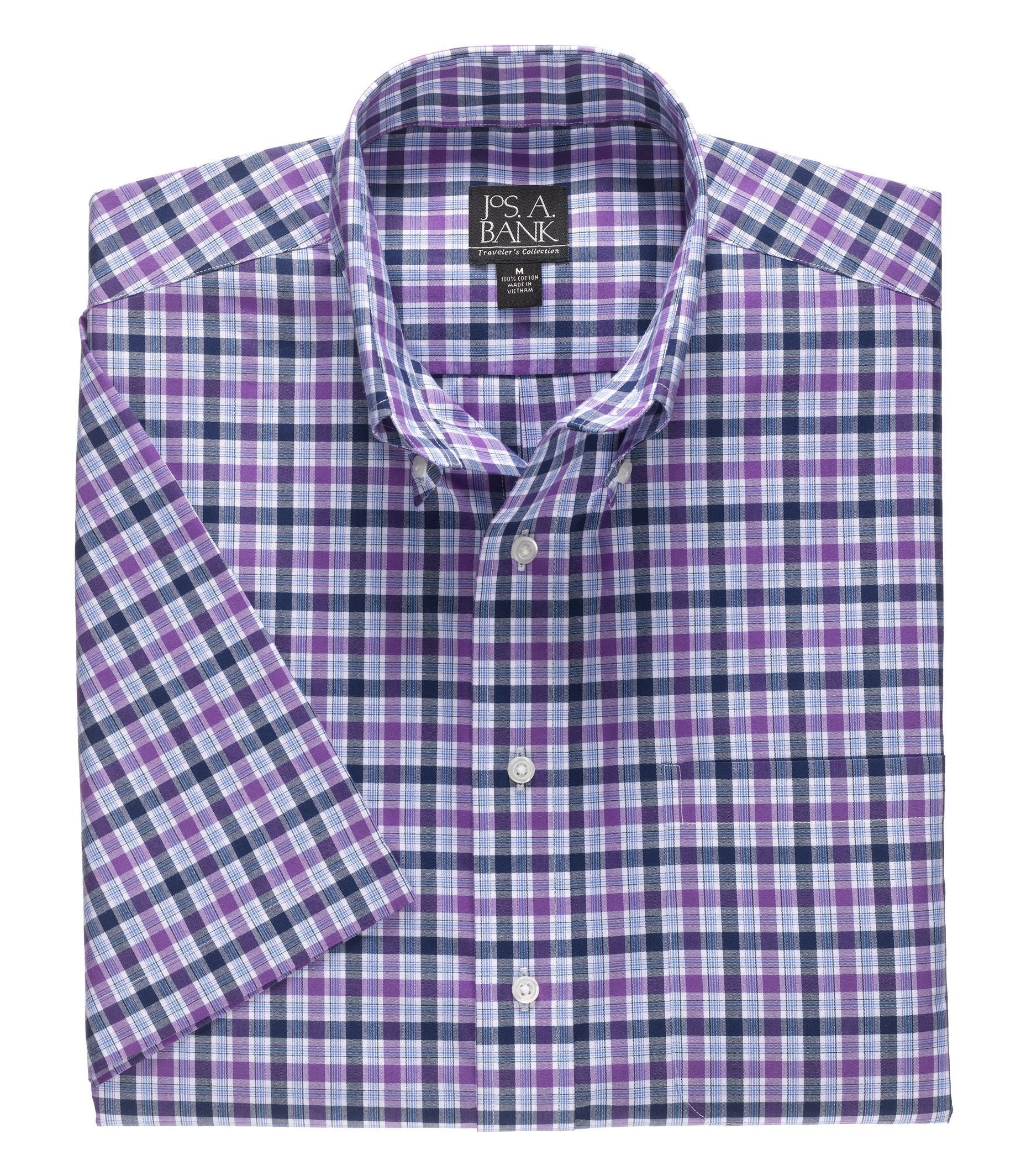Traveler Collection Traditional Fit Buttondown Collar