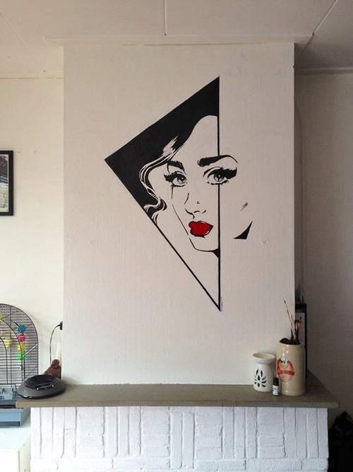 Comic schouw, jaren 50 Acrylverf 70x100cm