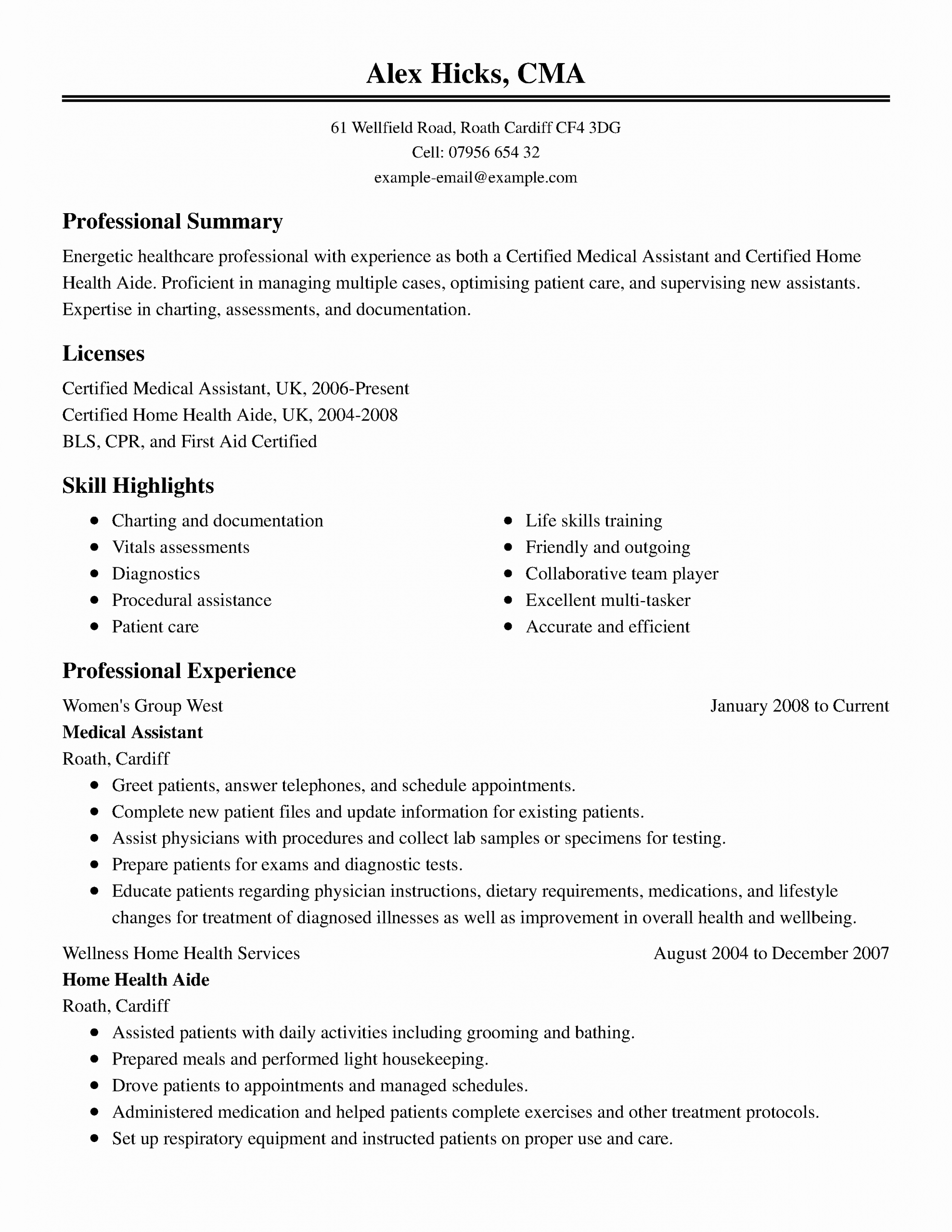 Healthcare Resume Objective Examples Elegant 15 Of The Best Resume Templates For Microsoft Word Medical Resume Template Medical Resume Resume Template Examples