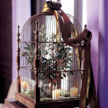 Une cage oiseau en guise de centre de table bird cages for Cage d oiseau decorative