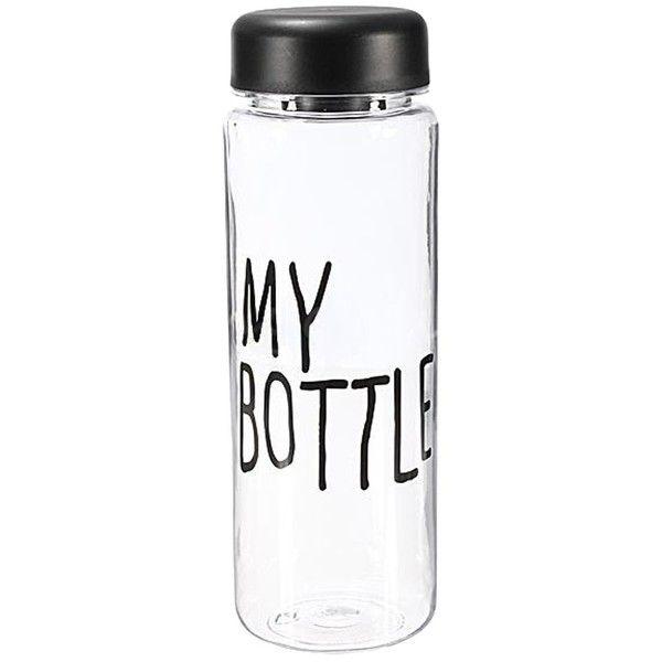 WO/_ Health Travel Clear Bottle Sport Plastic Fruit Juice Water Drinks Cup