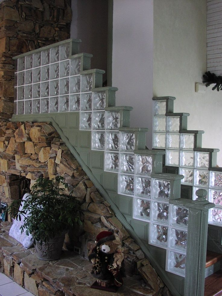 glass block stair railing - Google Search | Kingston | Pinterest ...