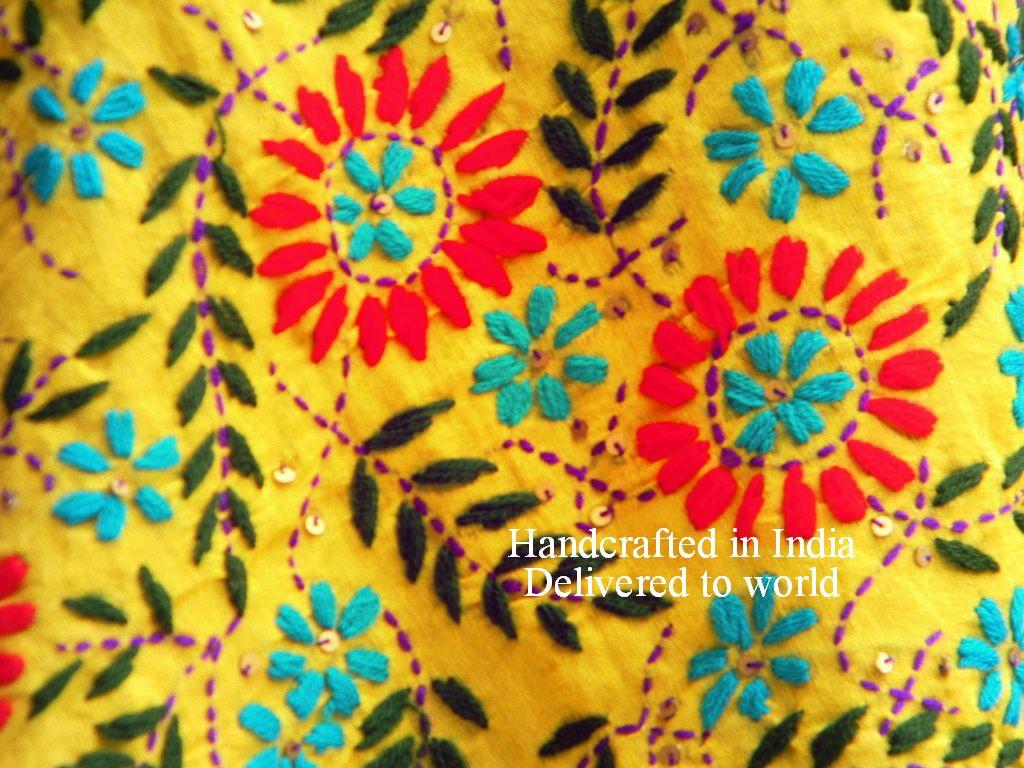Phulkari #Yellow #Punjab #dupatta #suit #saree #handmade   Crafts of ...