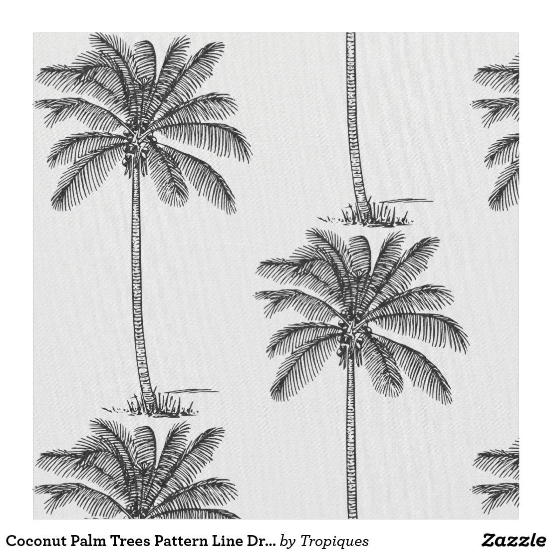 Tissu Style motif de palmiers de noix de coco de dessin