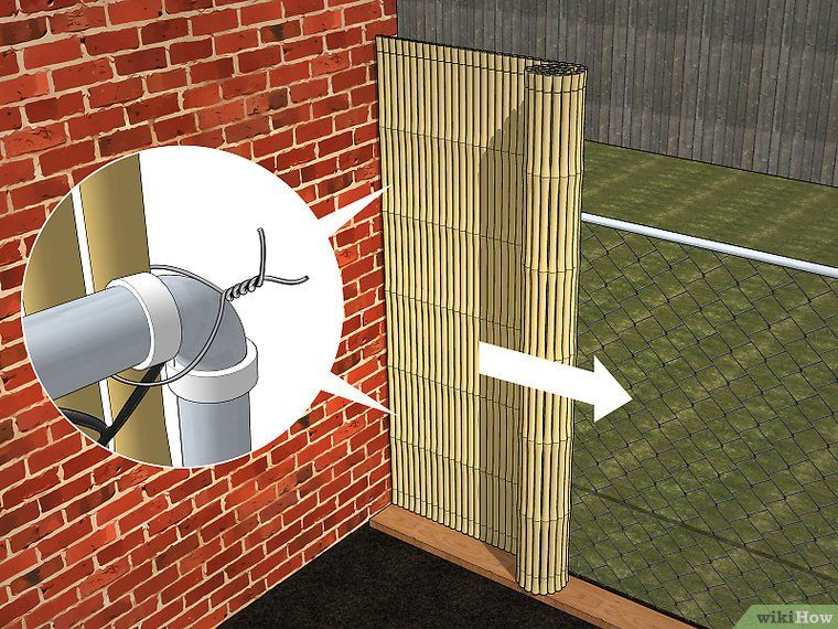 Add privacy to a chain link fence chain link fence diy