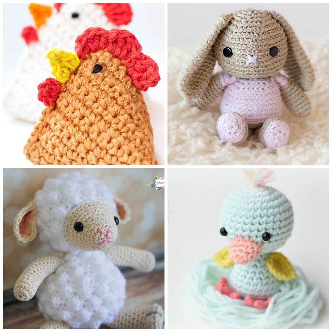 Free Crochet Patterns for Spring   Pinterest   Animales de ganchillo ...