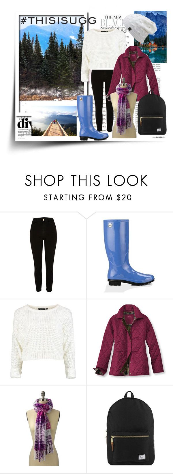 """""""Play With Prints In UGG: Contest Entry"""" by veronika235 ❤ liked on Polyvore featuring UGG Australia, L.L.Bean, Lands' End and Herschel Supply Co."""