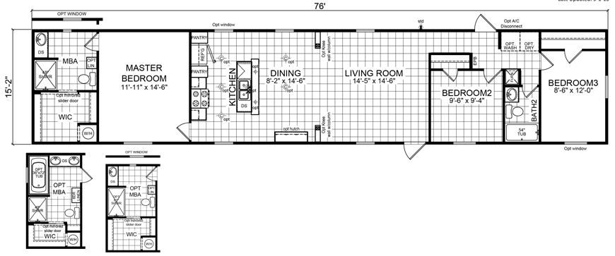 Image result for single wide mobile home floor plan with dining room also rh pinterest