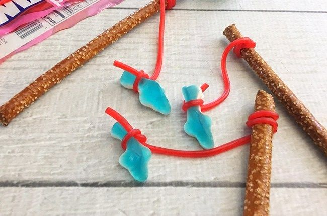 Shark Week Fishing Pole Treats - Craft Create Cook