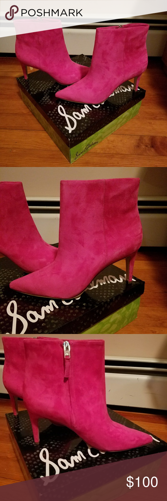 29e1617c8573b0 Sam Edelman pink suede Karen bootie Brand new in box pink suede Sam Edelman  booties. They are stunning and will make statement when you wear them!