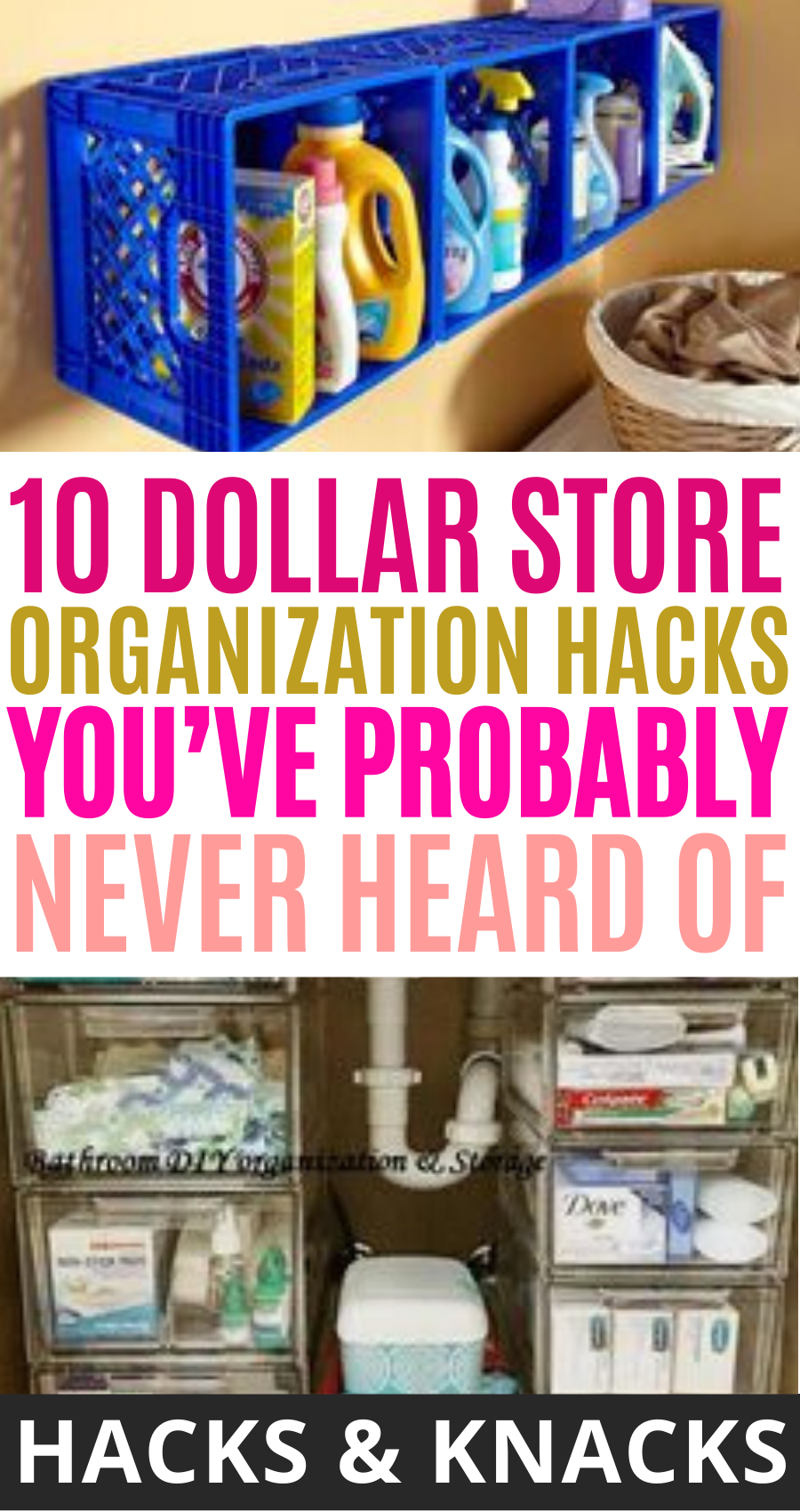 10 Dollar Store Organization Hacks You Ll Obsess Over In 2020 Dollar Store Organizing Dollar Stores Store Organization