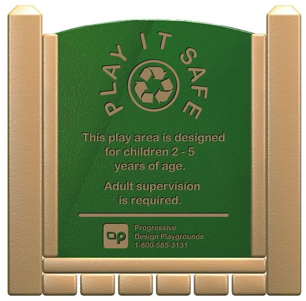 Playground signs and labels provide important information to supervisors and care givers to help keep children safe.