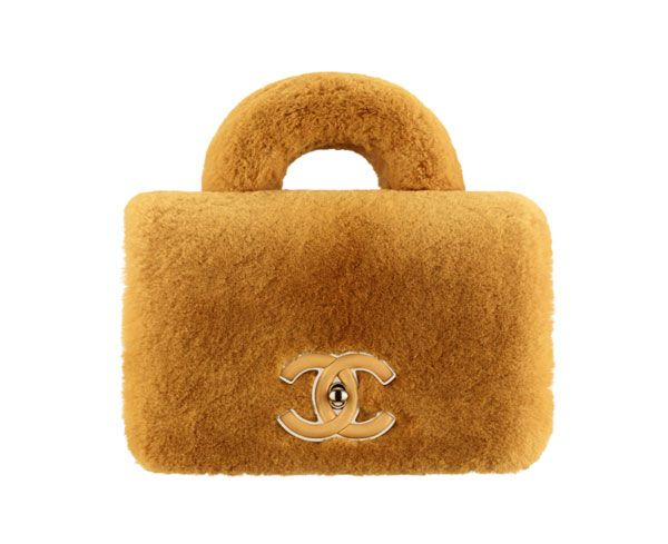 6f99f3a4f49e Chanel Fur Flap Bag with Top Handle