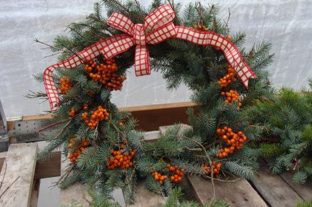 Mt. Ash and Blue Spruce Wreath