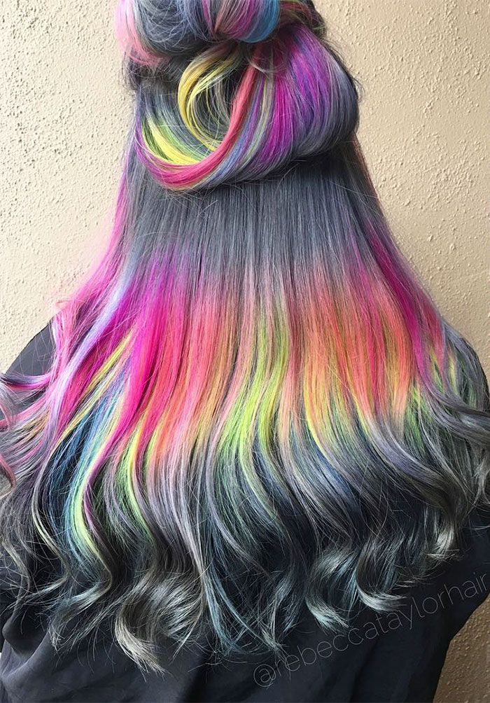 Shine Line Hair Is The Newest Trend Going Viral On Instagram Hair Styles Holographic Hair New Hair Trends