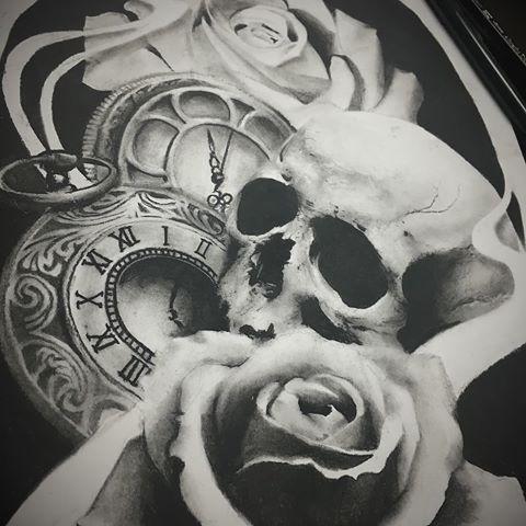 resultado de imagem para clock tattoo drawing tattoo pinterest tattoo tattos and tatoos. Black Bedroom Furniture Sets. Home Design Ideas