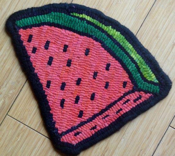 watermelon hot pad rug hooking kit