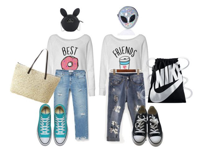 """Street Style"" by gift2say on Polyvore featuring MANGO, Converse, Disturbia, Disney and NIKE"