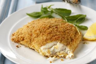 Crispy Oven-Fried Fish recipe  Just made this for dinner tonight. This is a great recipe. I didn't have crackers so I used Progresso italian style breadcrumbs.   We loved it!