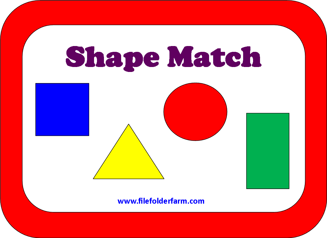 File Folder Farm Shape Match