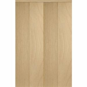 Impact Plus, Smooth Flush Solid Core Stain Grade Maple Matching Trim MDF  Interior Bi Fold Closet Door, At The Home Depot   Tablet