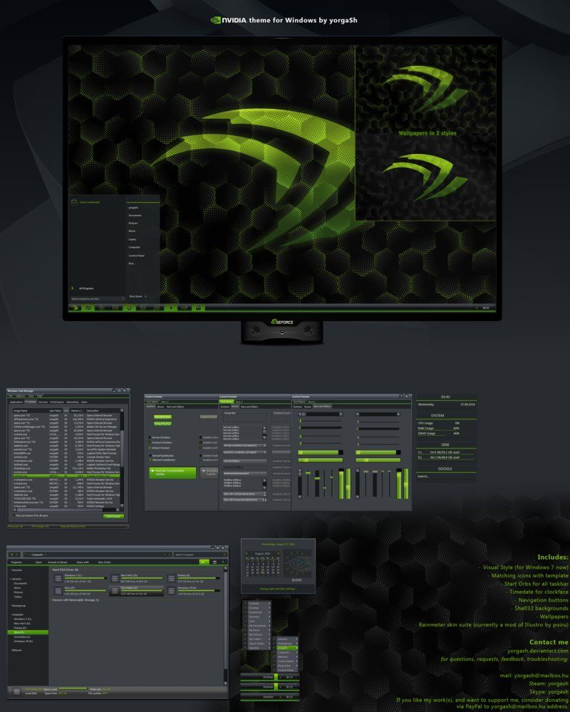 nVidia Desktop by yorgash | Windows Customization | Windows